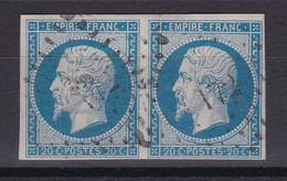 D226 / LOT NAPOLEON N° 14A PAIRE OBL - 1853-1860 Napoléon III