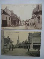 DOYET (03) : Rue De La REPUBLIQUE - Lot De 2 Cartes - 1926 - Sin Clasificación