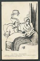 Au Village - Nuit Paisible - Humour , Illustration Signée C. Lestin   ...   - Maca 19104 - Other Illustrators