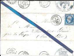 N 14 - Obliteration PC 949 CORBEIL Sur Fragment - 1849-1876: Période Classique