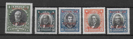 CHILE - 1928 - SERIE COMPLETE SERVICE YVERT N°20/24 * MLH - COTE = 40 EUR - Chile