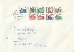 DDR / 1990 / Mi. 3344-3352 Kpl. Auf Brief Ex Stralsund (C089-20) - Covers