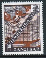 Zanzibar 1965  Single 30c Stamp Issued To Mark The 1st Anniversary Of The Revolution. - Zanzibar (1963-1968)