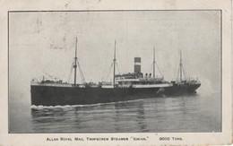 Paquebot Allan Royal Mail Twin-screw Steamer Ionian 9000 Tons Voyagée 1912 - Dampfer