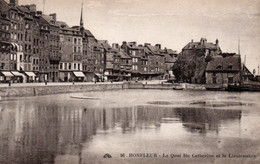 Carte Postale Ancienne - Non Circulé - Dép. 14 - HONFLEUR - Le Quai SAINTE CATHERINE, La Lieutenance - Honfleur