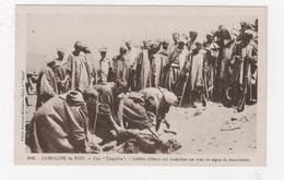 MILITARIA - GUERRE DU RIF 1921-26 - CAMPAGNE DU MAROC - TARGUIBA - SOLDATS RIFFAINS IMMOLANT UN VEAU, EN SIGNE DE SOUMIS - Otras Guerras