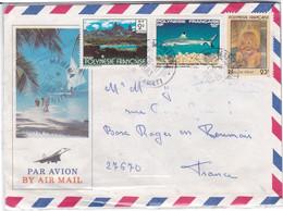 Polynésie Française Timbres Sur Enveloppe 1979-83 YT 133-194-197 - Sin Clasificación