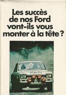 Dépliant Catalogue Publicitaire FORD 1970  CAPRI MUSTANG CORTINA ESCORT 12M 15M 17M 20M 26M - Publicités