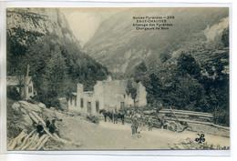 64 EAUX CHAUDES 308 MTIL - Ouvriers Chargeurs De Bois Attelage De Transports Chevaux - Basses Pyrénées    /D12-2018 - Other Municipalities