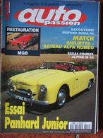 Revue Auto Passion N°109 (sept-oct 1996) Panhard Junior - Restauration MGB - Alpine M 63 - Hispano Suiza H6 - Auto/Moto
