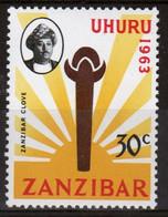 Zanzibar 1964  Single 30c Stamp Issued To Celebrate Independence. - Zanzibar (1963-1968)