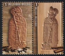 Belgium 2020 Set Of 2 MNH, Biscoff, Saint Nicholas, Speculoos Biscuit Plank, Speculaas, Cinnamon Herbs - Food