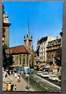 Lausanne Place De François/ Trolleybusse/ Alte Autos - VD Vaud