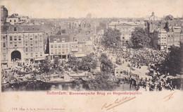 ROTTERDAM. BINNENWEGSCHE BRUG EN HOGENDORPSPLEIN. NEDERLAND, PAYS BAS. CPA CIRCULEE 1905 A BUENOS AIRES -LILHU - Rotterdam