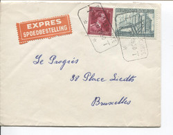 REF2140/ TP 832-772 Exportation S/L.Exprès C.T.T.Braine Le Comte 29/12/1950 > BXL Schaerbeek - Brieven En Documenten