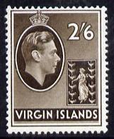 British Virgin Islands 1938-47 KG6 2s6d Sepia On Ord Paper Unmounted Mint SG118a - British Virgin Islands