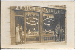 Carte Photo -  Commerce Omnium Electrique H Reynaud -403 Rue De Vaugirard Paris 15e - Bottin 1924 - District 15