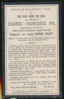 JOANNES FOL   OOSTENDE  1842    ALDAAR OVERLEDEN 1914 - Décès