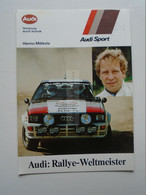 D175173   RALLY  Racing -   Hannu Mikkola    -  AUDI  QUATTRO - Rally Racing