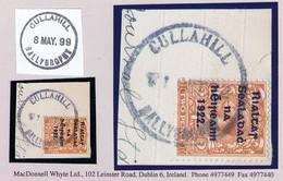 Ireland Laois 1922 Rubber Climax Dater CULLAHILL BALLYBROPHY 1 OCT.22 On Piece With Thom Rialtas 2d Orange Die 2. - Ohne Zuordnung