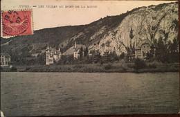 Cpa De 1907, YVOIR / Les Villas Au Bord De La Meuse , Belgique, Phototypie Marcovici Bruxelles, écrite - Yvoir