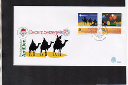 Christmas 1995 And New Year 1996 - FDC (Netherlands Antilles 1995) (3SPD006) - Christmas