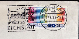 Germany Eichstatt 1984 / Besucht Eichstätt / Castle / Bridge / Machine Stamp - Castelli