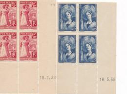 DX-4: FRANCE: Lot Avec N°388** Et 401** ( Coins Datés) - 1930-1939