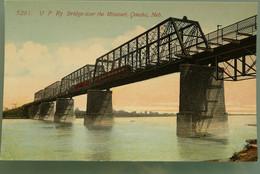 82 EUA - USA - NEBRASKA - OMAHA - UP RY BRIGDE OVER THE MISSOURI - Kunstwerken