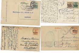 België  Bezetting 4 Poststukken - Otros Cartas