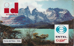 CHILE - Torres Del Paine, ENTEL Prepaid Card $1000, Exp.date 31/10/97, Used - Chile