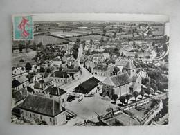 CPSM - En Avion Au-dessus De... - CERCY LA TOUR - Le Haut Du Bourg - L'église Et La Place D'Alligre (vue Aérienne) - Altri Comuni