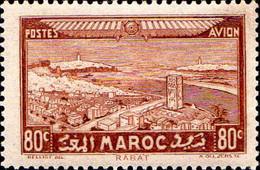 Maroc (Prot.Fr) Avion N** Yv: 35 Mi:118 Rabat - Luftpost