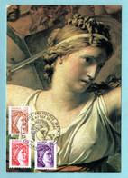 Carte Maximum 1979 - Sabine De Gandon - YT 2059 - 2060 - 2061 - Oblitération Service Philatélique Des PTT - 1970-79