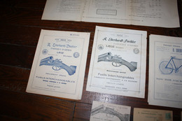 Anciens Documents Armurerie Eberhart Doehler - Dokumente