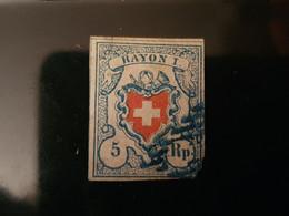 1851 Rayon L Zu SBK 17ll Fr. 200.-- - 1843-1852 Federal & Cantonal Stamps