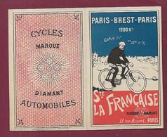 291020 - PETIT CALENDRIER 1902 Cycles Diamant Automobiles PARIS BREST PARIS 1200 Kil CARIN 1er STE LA FRANCAISE Vélo - Petit Format : 1901-20