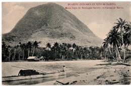 "HUAHINE ( ILES SOUS LE VENT De TAHITI.) Au DOS, PUBLICITE  "" A LA PROVIDENCE "" 146 Rue De RIVOLI à PARIS. - Tahiti"