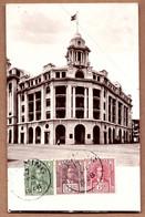Old Carte Postale CPA 1928 SARAWAK Kuching Large Building Malaysia Used PHOTO Postcard Singapore Malay FMS Stamps - Malaysia