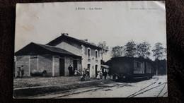 CPA LEON LANDES GARE AVEC TRAIN ED R SOURGEN 1905 - Andere Gemeenten