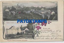 145831 GERMANY GRUSS AUS HECKHOLZHAUSEN MULTI VIEW & TRAIN POSTAL POSTCARD - Sin Clasificación