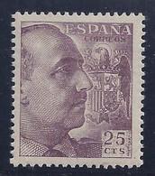 ESPAÑA 1949/53 - Edifil #1048A - MNH ** Raro!... - 1931-50 Ongebruikt