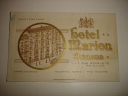 ZELDZAAM !! PUB FORMAT CPA - OOSTENDE OSTENDE - HOTEL MARION ( PROPRIETAIRE DEUTS HARLING ) ( !! ZIE STAAT !! ) - Oostende