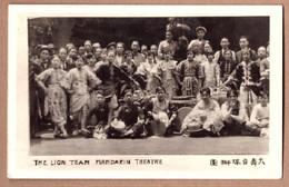 Old Carte Postale CPA Penang / Singapore Lion Team Mandarin Theatre Group Postcard MALAYSIA CHINA Chinese Shanghai Actor - Malaysia