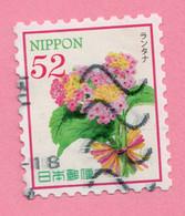 2017 GIAPPONE Fiori Flowers  - 52 Y Usato - Gebruikt