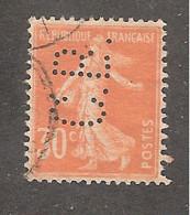 Perfin/perforé/lochung France No 141 C.B. Cie De Béthune - Gezähnt (Perforiert/Gezähnt)