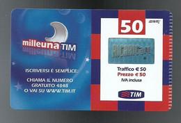 REF. 69 - TIM - 50 EURO - MILLEUNA TIM - VALIDITA GIUGNO 2010 - PARTICOLARE - [2] Sim Cards, Prepaid & Refills