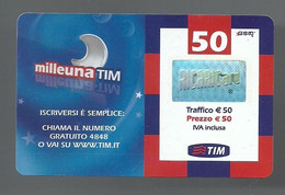 REF. 69 - TIM - 50 EURO - MILLEUNA TIM - VALIDITA APRILE 2010 - [2] Sim Cards, Prepaid & Refills