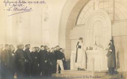 GOLZERN MULDE CAMP DE PRISONNIERS DE GUERRE CARTE PHOTO 1915  PRISONNIERS ET LES 2 PRETRES - Weltkrieg 1914-18