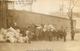 GOLZERN MULDE CAMP DE PRISONNIERS DE GUERRE CARTE PHOTO 1916 ARRIVEE DES COLIS AU CAMP - Weltkrieg 1914-18